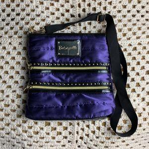 Gorgeous BETSEY JOHNSON purple SATIN crossbody